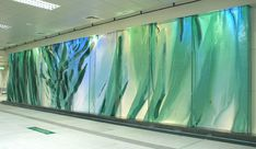 Emerald Laminata: Tree of Life, view of three-dimensional glass wall, companion to the glass wall Infinity
