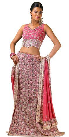 Pink Ghagra Choli