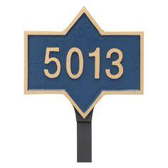 Montague Metal Piedmont Rectangle Petite Address Sign Lawn Plaque