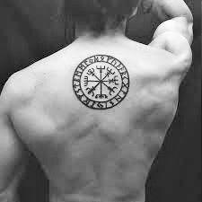 70 viking compass tattoo designs for men vegv sir ink. Black Bedroom Furniture Sets. Home Design Ideas