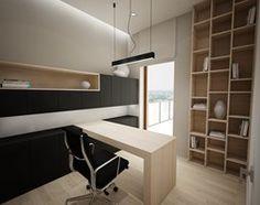 Klasycznie - Gabinet, styl nowoczesny - zdjęcie od Nasciturus design Study Room Design, Shops, Home Office Design, Corner Desk, Interior Design, Bedroom, Table, Inspiration, Furniture