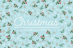 Winter Christmas seamless pattern  by AnzhelikaGerman on @creativemarket