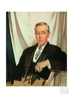 1856 – Woodrow Wilson, | Portrait of Woodrow Wilson (1856-1924) c.1919 Giclee Print by Sir ...