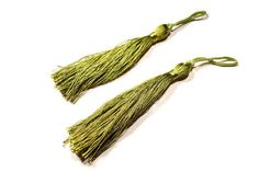 6 Pcs Bohemian Olive Drab Color Tassel  Bengaline by FoxyBeadsCo