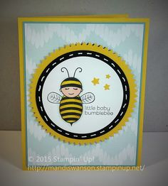 Baby Bumblebee stamp from 2015 Stampin' Up! Occasions Catalog
