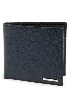 Ermenegildo Zegna 'Hamptons' Textured Leather Bifold Wallet
