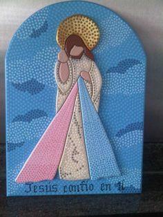 Jesus de la Misericordia puntillismo de Carolina VP
