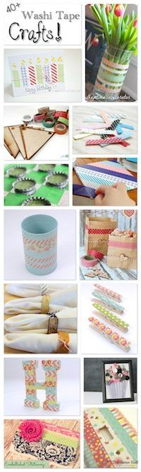 Awesome Collection of DIY Washi Tape Crafts