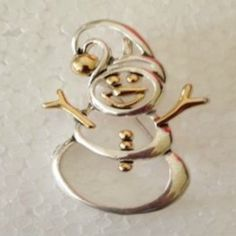 Snowman Pendant Pin Open Cut Jewelry Holiday Winter Wonderland Frost Christmas #DavenportDesigns #PendantPin