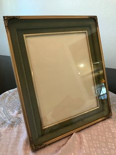 Vintage Gold Tone and Green Velvet Picture Frame by BazemoreVault on Etsy