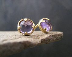 February's birthstone: Amethyst There's still snow on the ground, but the violets are in bloom