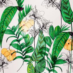 Leaves Pattern Fashion, Fashion Prints, Textile Design, Pattern Design, Plant Leaves, Arts And Crafts, Textiles, Inspiration, Happy