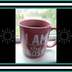 Maira has been walking around with this mug lately.  I think she's trying to tell me something.  #SheIsTheBoss #YesMaam #RainyWorkDay #RYM