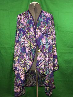 Women's SERENADE Plus Size Purple Multicolored Floral Robe Coverup Size 5X  | eBay