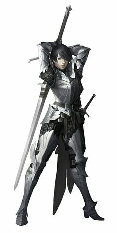 Human Female Fighter Warrior - Pathfinder PFRPG DND D&D d20 fantasy