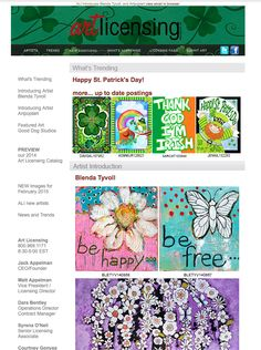 This week ALI introduces Blenda Tyvoll and Artpoptart and features Good Dog Studios! #artlicensing http://162.144.81.223/email/Mar_16_15/ALI_eNews_Mar16_15.html