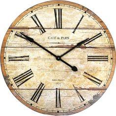 Roman Numeral Wooden Wall Clock 14 X 14 Stonebriar