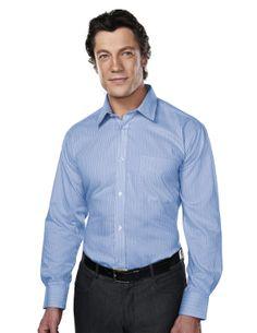 Men's Wrinkle Free Yarn Dye Stripe Woven Shirt (100% Cotton) Tri mountain 975 #greatdeals #Stripes #dressshirt