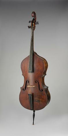 18th-century Italian (Florence) 3-stringed double bass.