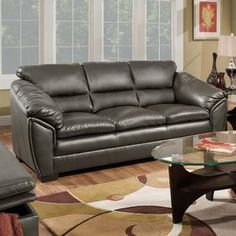 Simmons Coach Bonded Leather Sofa   Comes In 3 Different Colors AND Has  Matching Loveseat U0026