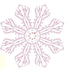 Lace Squares rotated to diamonds. Here in a curtain. I would like it also on a tablecloth or table runner. Crochet Snowflake Pattern, Crochet Snowflakes, Granny Square Crochet Pattern, Crochet Flower Patterns, Crochet Diagram, Crochet Chart, Crochet Squares, Thread Crochet, Crochet Motif