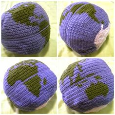 Globe crochet! Because...projections. (And the globe pillows in the store are lame!)