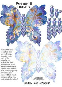 Papillon 11 Lumineux on Craftsuprint designed by Jolis DeAngelis - One of many butterflies that will dazzle you and your loved ones. French for