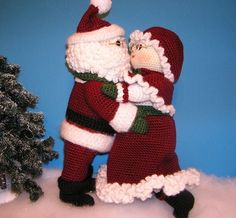 Pdf Crochet Pattern MR and MRS SANTA by bvoe668 on Etsy, $10.00