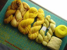 yellow yarn