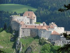 "The Fort de Joux or Château de Joux is a castle, transformed into a fort, located in La Cluse-et-Mijoux, in the Doubs département, in the Jura mountains of France. It commands the mountain pass ""Cluse de Pontarlier"". During its long history, Fort de..."
