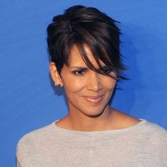 Short Hair Inspiration: Halle Berry's Current Sideswept Cut