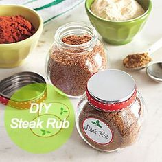 Easy #DIY Steak Rub: 1/3 cup cumin 3 tablespoons allspice 4 teaspoons garlic powder 4 teaspoons cinnamon 1 1/2 teaspoons cayenne 1 tablespoon salt 2 teaspoons pepper