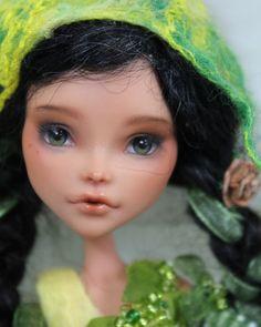 OOAK Custom Monster High Repaint by Momo Dolls Green Fairy | eBay