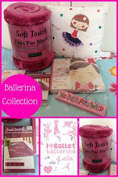 Looking to create a Ballerina themed bedroom? We have put this amazing pink ballerina collection together for you busy parents.  This ballet dancers bedroom collection consists of 6 essential items when theming a child's football bedroom.  This collection includes: Love to Dance single duvet – 135cm x 200cm, 52% polyester 48% cotton Pink Soft Touch Faux Fur Throw – 150cm x 200cm Ballerina Cushion filled Pink glittery ballerina wall stickers – 30 wall stickers Pink Chalkboard Panels – 4 sheet Pink Bedroom For Girls, Pink Bedrooms, Cot Bed Duvet Cover, Duvet Covers, Childrens Bedroom, Kids Bedroom, Bedroom Themes, Bedroom Ideas, Ballerina Bedroom