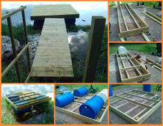 Here's a dock that floats with the help of repurposed plastic drums. Learn how by viewing the full album now at http://theownerbuildernetwork.co/ncwi Have you done other projects that involved plastic drums?