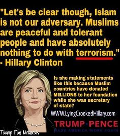 Of course Hillary, because your reverse racism must ensure that the goat fucker vote gets a voice here in America. Islam is lower than sewage and any apologist or defender an enemy to mankind.