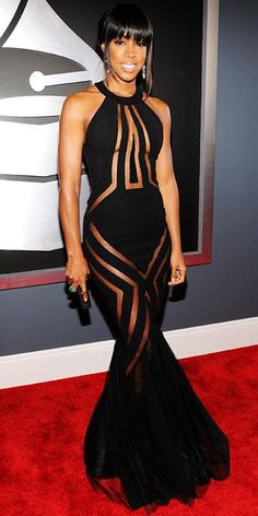 The Wildest Grammys Looks Ever - Kelly Rowland, 2013 from #InStyle. Like the cut outs b4 everyone else did it.