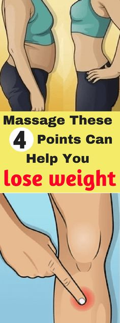 Massage, These 4 Points, Can Help You Lose Weight!!! - All What You Need Is Here