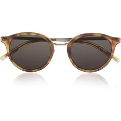 d757e55f9c0 Saint Laurent Round-frame acetate and metal sunglasses (€300) ❤ liked on