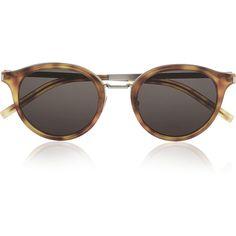 2754382e393 Saint Laurent Round-frame acetate and metal sunglasses (€300) ❤ liked on