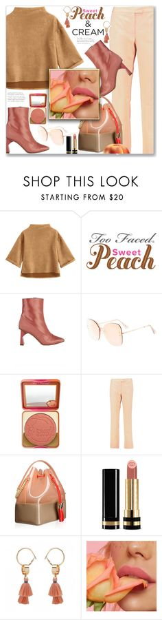 """She's a Peach, Work Wear"" by jecakns ❤ liked on Polyvore featuring TIBI, Too Faced Cosmetics, Boutique Moschino, Kartell and Gucci"