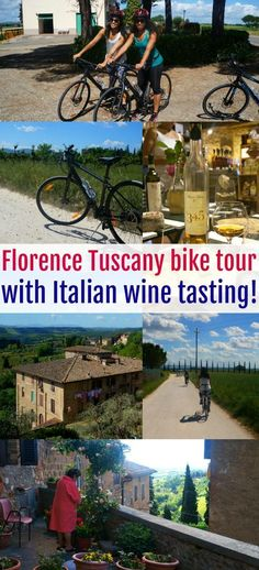 A Florence Bike Tour With Wine Tasting Through Tuscany We'll Never Forget! We took a Florence bike tour with wine tasting while in Italy and loved it! Ride through the hills on a Tuscany bike tour and enjoy Italian Chianti Wine Tasting Experience, Florence Tuscany, European Vacation, Visit Italy, Italy Travel, Italy Trip, Family Travel, How To Memorize Things, Tours