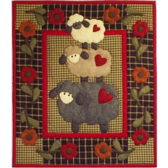 Was my first applique quilt-still on the wall.