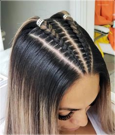 Are you on the hunt for that perfect braided hair wedding hairstyle? One that feels effortless, romantic and ethereally chic? We love all of the innovative and creative takes on the humble braid that… Pretty Braided Hairstyles, Easy Hairstyles For Long Hair, Teen Hairstyles, Braids For Long Hair, Baddie Hairstyles, Festival Hair, Aesthetic Hair, Hair Hacks, Dyed Hair