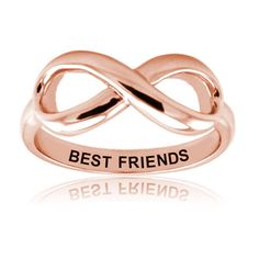 Sterling Silver Rose Gold Plated Best Friends Infinity Ring, Size 5 -- Want to know more, click on the image.