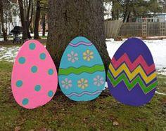 Easter Yard Art Easter Decoration Easter Outdoor by EMCYardArt