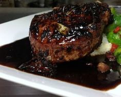 BALSAMIC GLAZED PORK CHOPS: Take a look at my easy to follow recipe for making some very flavorful Balsamic Glazed Pork Chops that are browned and cooked in a skillet and then finished off by simmering in a balsamic glaze made from balsamic vinegar, sugar, butter, rosemary, onions and garlic until perfectly glazed.