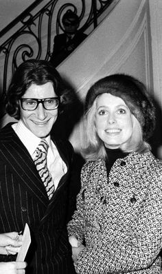 Yves Saint Laurent & Catherine Deneuve