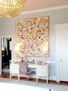 decorating ideas from a show house oversized wall artabstract