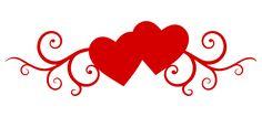 superbe motif avec ces deux cœurs encadrés de volutes... il sera parfait pour la Saint Valentin toute proche !...
